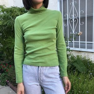 Lime Green Turtle Neck